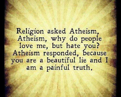 Religion Asked Atheism – Meme